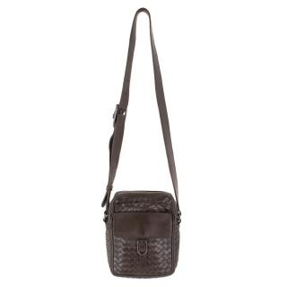 Bottega Veneta Brown Intrecciato Leather Camera Bag