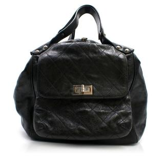 Chanel Black Quilted Caviar Leather Doctors Bag