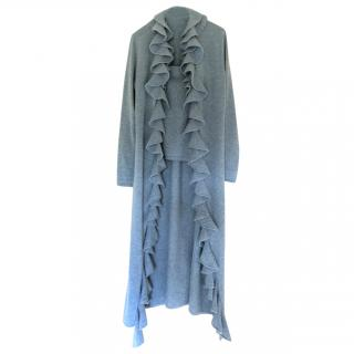Ralph Lauren long ruffled cardigan + top