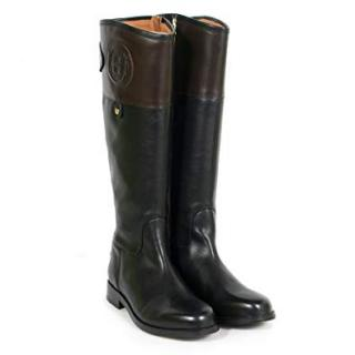 Hunter Sandhurst Wellesley Tall Leather Boots