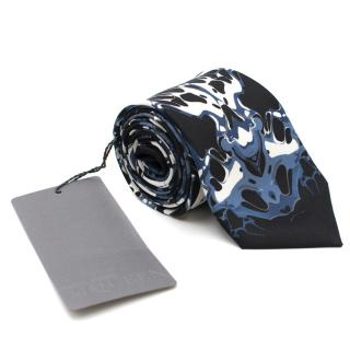 Alexander McQueen Silk Abstract Patterned Tie