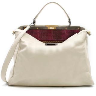 Fendi Off White Large Peekaboo Bag