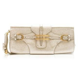 Jimmy Choo Metallic Leather Clutch