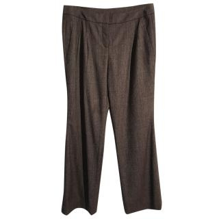 Akris wool lightweight straight leg trousers