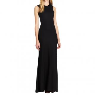 L'At by L'Agence black wool mix evening gown