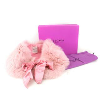 Escada Pink Shadow Fox Fur Shrug