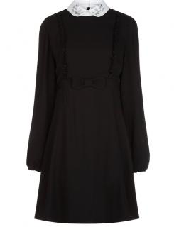 Vivetta Filigrana ruffle mini dress with collar