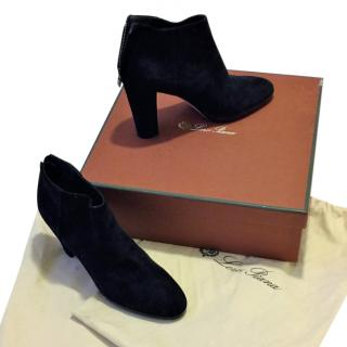 Loro Piana 'Charlene' Suede Ankle Boots