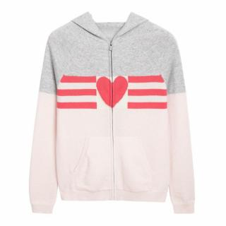 Chinti and Parker 100% Cashmere Love Heart Hoodie