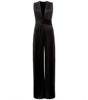 Balmain Pleated Velvet Jumpsuit