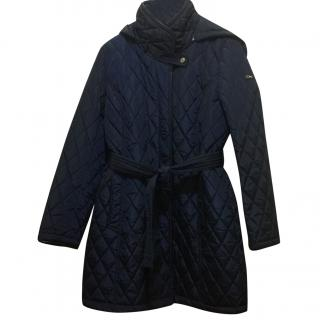 Donna Karan quilted coat with detachable hood