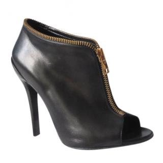 Tom Ford Black Zipper Ankle Boots