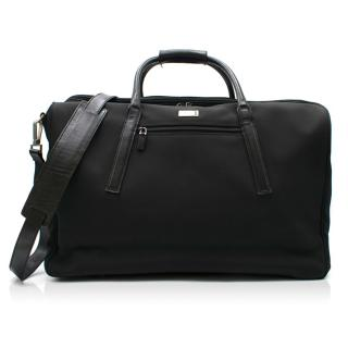 Gucci Black Canvas & Leather Trim Holdall