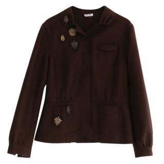 Miu Miu Heraldry Badge Wool Jacket