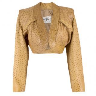 Jean Claude Jitois Tan Ostrich Jacket