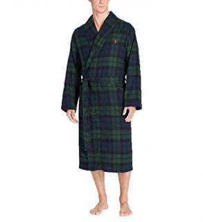 Polo Ralph Lauren tartan terry bathrobe