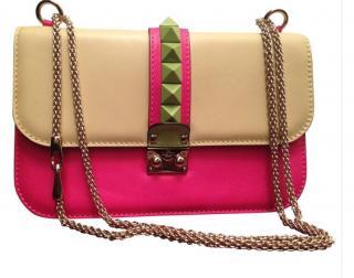 Valentino Rock Stud Multi Calf Skin Medium Handbag
