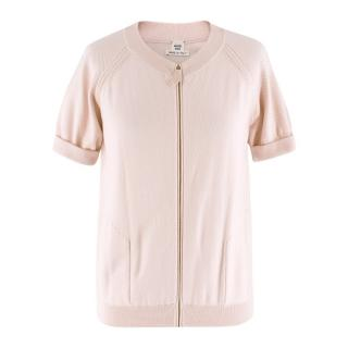 Hermes Pink Knit Zip Top