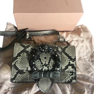 Miu Miu python lady bag embellished clasp