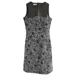 Michael Kors Collection Mohair Lace & Leather Dress