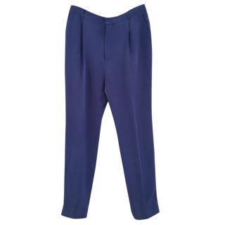 Joseph blue silk trousers