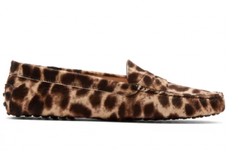 Tod's leopard-print calf hair Gommino Loafers