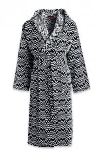 Missoni zig-zag pattern terry bathrobe