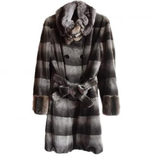 EMBA Couture Chinchilla Dyed Sheared Mink Coat
