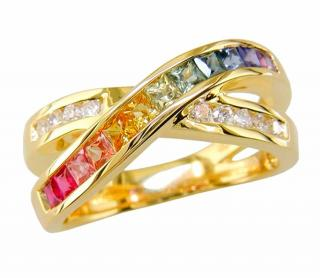 Judy Mayfield Rainbow Sapphire Ring 18ct Gold RRP �1995