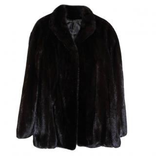 Bespoke Italian black mink jacket