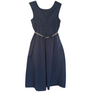 MaxMara blue cotton blend dress