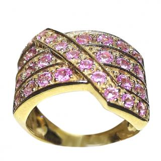 Bespoke Pink Sapphire Cluster Ring 1.50ct gold