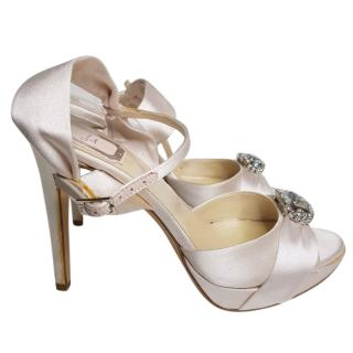 Christian Dior Pale Pink Satin Sandals