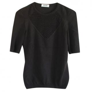 Moschino Cheap and Chic Mesh Wool Sweater