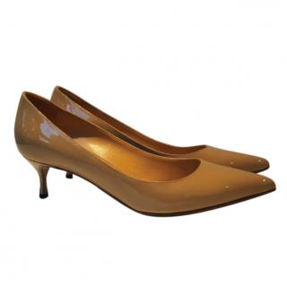 Sergio Rossi dark beige pumps