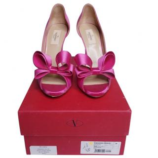 Valentino Pink Couture Bow D�orsay Pumps