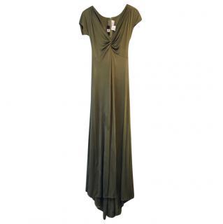 Bill Blass Green Silk Gown