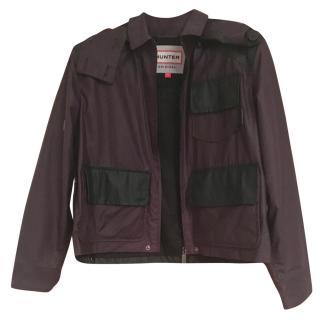 Hunter oxblood waterproof jacket