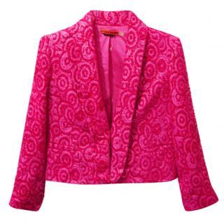 Alice & Olivia Boucle Wool Blend Jacket