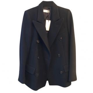 Dries Van Noten Short Double Breasted Wool Coat
