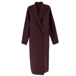 Bespoke Burgundy Wool Lightweight Coat