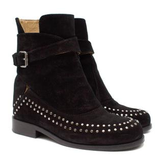 Thakoon Addition Black Suede Studded Fiona2 Boots