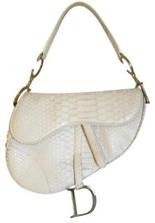 Dior white snakeskin