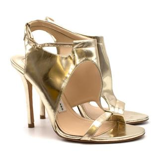 Camilla Skovgaard Gold Leather Stiletto Sandals