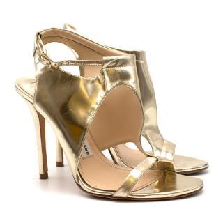 Camilla Skovgaard Gold Leather Stiletto Sandals