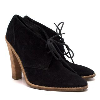 Balenciaga Black Suede Booties