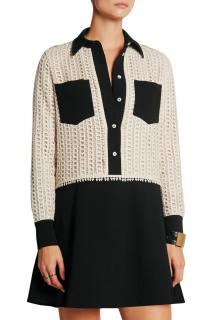See By Chloe two-tone crepe crochet dress