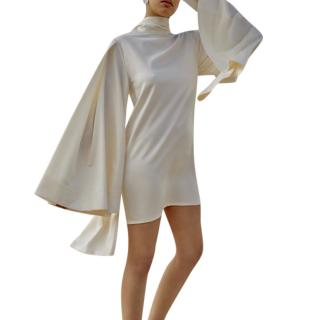 Solace London Kinley Cape-effect Satin Mini Dress