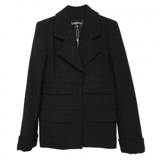 Chanel Black Tweed Coat