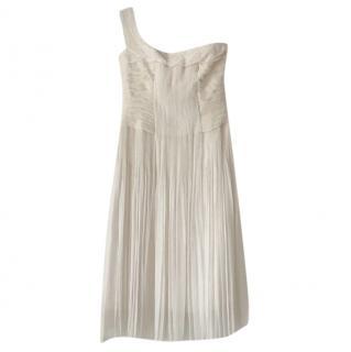Elie Tahari Silk one shoulder cocktail dress